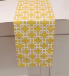 SUMMER TABLE RUNNER.Yellow Table Runner-Modern by AnyarwotDesigns