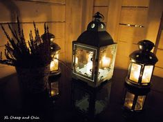 XL Cheap & Chic: Valoa pimeyteen, uusi lyhty - Bringing light to th. Darkness, Lanterns, Candle Holders, Bring It On, Candles, Lighting, Chic, Home Decor, Shabby Chic