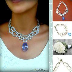 """BabzBling """"Something Blue"""" Necklace"""