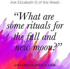Observing, celebrating and performing rituals for Full and New moons is something I've been doing since 2013. I rarely miss a moon and these practices have allowed me to connect more deeply to myself, to nature, to the natural rhythms of my body and the cosmos. Women ask me all the time what specifically I do for these, in this podcast episode I share what I've learned, what I love to practice, and my favorite resources to help develop your own practices.
