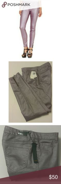 "New Buffalo David Bitton Metallic Skinny Jeans  30 These jeans by Buffalo are brand new with tags. The lighting and two of the photos make them look grey but they are light lavender in color. Waist:15"" Inseam:28""  My home is smoke free and pet free.  Check out other items in my closet and bundle for your discount.  I always consider all offers.  Happy POSHING! Buffalo David Bitton Jeans Skinny"