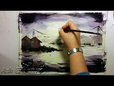 Aslı Erdem Suluboya Peyzaj Çalışması (watercolor speed painting) #2