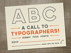 love this call-to-typographic-arms by Riley Cran.