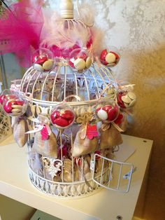 Cage oiseau dragées