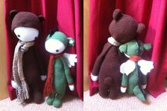 BINA and DIRK made by Dympna K. / crochet patterns by lalylala