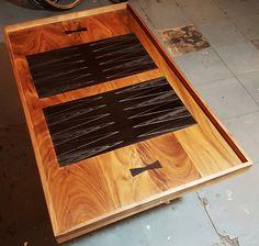Reversible backgammon/chess board