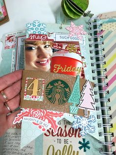 For Day 4 of my December Daily I documented a new holiday drink at Starbucks. I used a coffee sleeve as a pocket and added goodies from my stash such as Pink Fresh Studios Christmas Wishes ephemera. #DecemberDaily