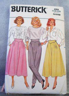 1986 Uncut  Butterick Pattern 4264 Misses by lovelylovepatterns, $4.00