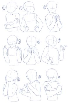 art reference poses A bunch of poses after the previous arms and torso tutorials! I didnt put any expressions in this since they can vary, and also its a more focused on drawing the characters body from the waist up. Drawing Body Poses, Drawing Tips, Drawing Techniques, Drawing Ideas, Drawing Drawing, Body Reference Drawing, Anime Drawing Tutorials, Body Base Drawing, Drawing Stuff