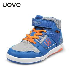 Uovo Kids Sport Shoes New Fashion Tide Sport Sneakers Spring Autumn High Top Velcro Casual Shoes Casual Boys Trainers EU28-38 alishoppbrasil