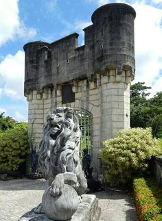O leão do portal. Instituto Ricardo Brennand - Recife - Pernambuco - Brasil
