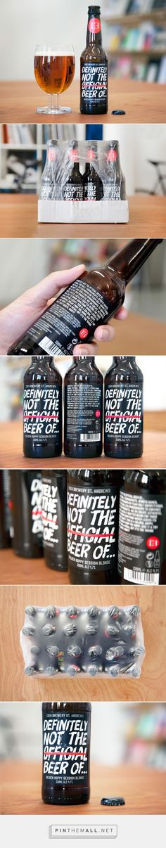 Definitely Not The Official Beer Of... beer packaging designed by  Freytag Anderson - http://www.packagingoftheworld.com/2015/07/definitely-not-official-beer-of.html