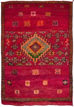 Madeline Weinrib - Vintage Moroccan - Carpets I absolutely must have this! Persian Carpet, Persian Rug, Turkish Rugs, Textiles, Berber Rug, Carpet Colors, Tribal Rug, Rugs In Living Room, Scrappy Quilts