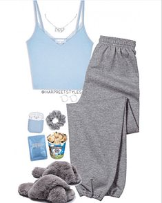 Cute Lazy Day Outfits, Cute Swag Outfits, Teenage Girl Outfits, Chill Outfits, Teenager Outfits, Everyday Outfits, Stylish Outfits, Pajama Outfits, Komplette Outfits
