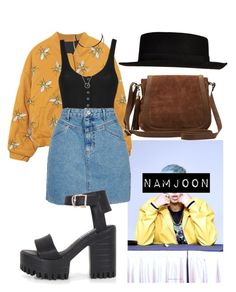 """""""Namjoon Inspired Outfit #2"""" by flaviaazevedo2000 ❤ liked on Polyvore featuring Topshop, M&Co and River Island"""