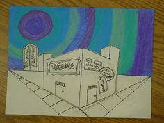 Mrs. Knight's Smartest Artists: drawing  2 point perspective