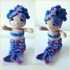 VIOLET THE MERMAID crochet pattern - Amigurumi pdf instant download