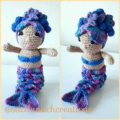 VIOLET THE MERMAID crochet pattern - Amigurumi pdf instant download