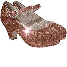 38f0e6cfbc47 Girls Sparkly Glitter Mary Jane Heels Flower Girl Birthday Gift Pageant Shoes  Rose Gold Pink