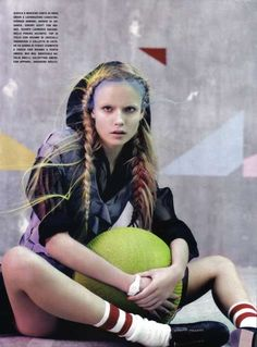 'Glam & Sporty' in Vogue Italia March 2010 is Ultra-Chic #hair trendhunter.com