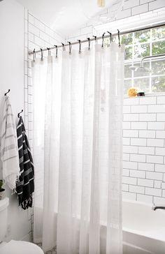 Bathroom Reveal Minimalist CurtainsCool Diy ProjectsShower Curtain