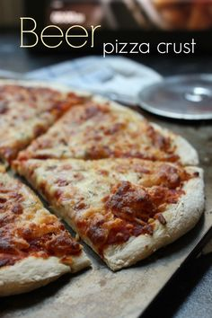 Beer pizza crust - an easy recipe for perfect thin crust pizzas! | Amuse Your Bouche