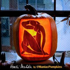 Henri Matisse cutout pumpkin by Manic Pumpkins