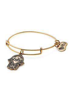 Swarovski Crystal Gold Flash Hand of Fatima Charm Bangle Bracelet | Hudson's Bay