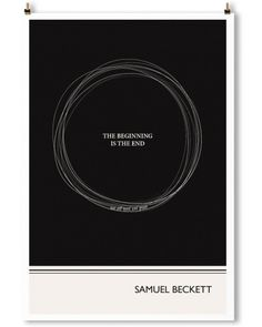 """ORBIT"" Art Print, Beckett Quote by Evan Robertson"