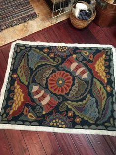 Rug Hooking Patterns Designs Inspiration Colorful Rugs Making
