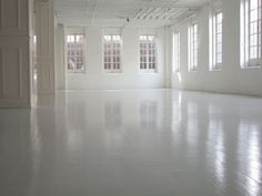 what a gorgeous blank canvas -- just smitten w/the painted white floors