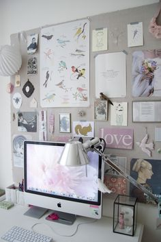 inspiration board behind the desk #home #decor #diy