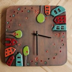 DIY clock ideas, POLYMER CLAY, MASA FLEXIBLE, PASTA FRANCESA, COLD PORCELAIN, CERNIT, PORCELANA FRIA, PASTA FLEXIBLE, BISCUIT, FIMO GIFT