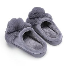 Comfortable Soft Touch Cotton Slippers Female Winter Indoor Cute Home Warm Non-Slip Thick-Soled Waterproof Couple Home Shoes Lihin Warm Color : Pink, Size : 1