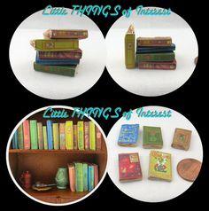 SET of 5 VINTAGE BOOKS Miniature Book by LittleTHINGSinterest