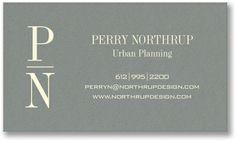 Striking Grey Business Cards