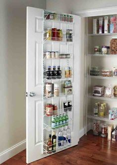 Over door spice rack back of pantry storage the organizer cabinet wall mount kitchen d . over door spice rack Kitchen Pantry Storage, Kitchen Shelves, Kitchen Decor, Kitchen Dining, Pantry Shelving, Bar Kitchen, Pantry Rack, Pantry Closet, Wire Shelving
