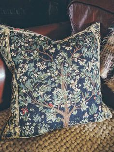 My William Morris 'tree of life cushion' from Wye needlecraft.