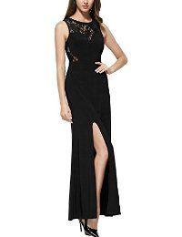 Vestido largo de la vendimia sin mangas floral del cordón de las mujeres Miusol®