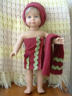 One day...towel set for daughter's bath dolls. Would be super easy with scraps of terry cloth.