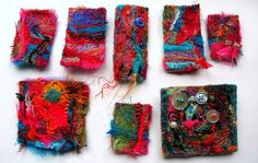 felted brooches, via Flickr.