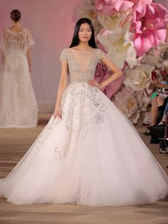 Wedding dress by Ines Di Santo from the Spring/Summer 2017 Collection. Image by Randy Brooke/Getty Images for Ines Di Santo. Spring 2017 Wedding Dresses, Spring Dresses, Tulle Ball Gown, Ball Gowns, New York Fashion, Women's Fashion, Bridal Gowns, Wedding Gowns, 2017 Bridal