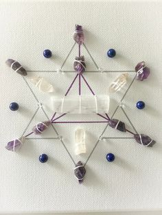 Spiritual growth, a crystal grid for contemplation, spiritual awakening and enlightenment Diy Arts And Crafts, Diy Crafts, Sacred Geometry Symbols, Crystal Grid, Crown Chakra, Chakra Stones, Crystal Healing, Crystal Magic, Spiritual Growth