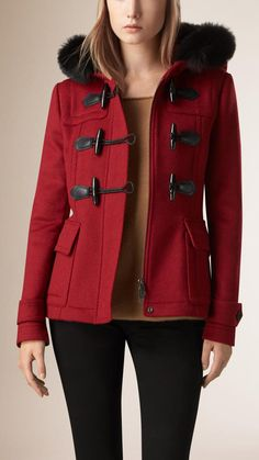 Burberry Brit Fur Trim Duffle Jacket...mine is without the fur