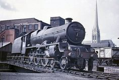 Preston M.P.D. (24k) May 27, 1961. Jubilee class 4-6-0 45629 Straits Settlements on the turntable.
