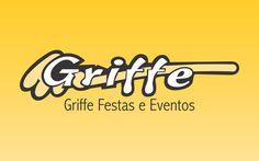 Logomarca para Griffe Festas e Eventos. Locação de brinquedos e barracas.
