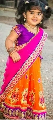 girl kids south indian traditional wear half saree