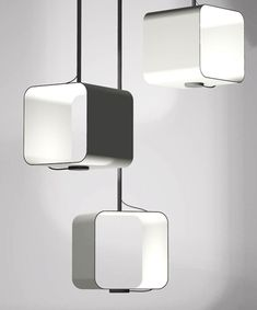 I do – pendant light, cubic in black and white | lighting . Beleuchtung . luminaires | Design: Keith Melbourne | in design live |