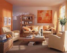 Decoración salas color naranja | Ideas para decorar, diseñar y mejorar tu casa.