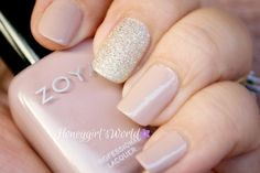 Diamond Sparkle featuring Zoya Tomoko and Rue...so pretty and not to over the top with the sparkle